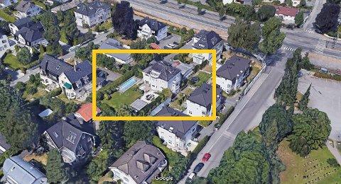 SOLGT: Eiendommen midt mellom Smestad og Frognerparken er solgt for nærmere 50 millioner kroner. Foto: Google Maps