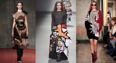Marni, Saint Martins og Pucci viste alle frem grafiske mønstre på catwalken.
