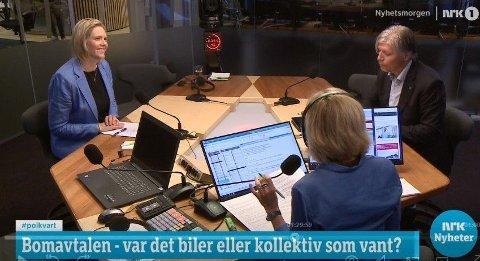 KRANGLER IGJEN: Sylvi Listhaug (Frp) møtte Ola Elvestuen (V) til frisk debatt mandag morgen.