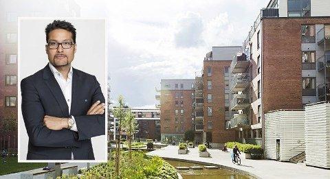 HEFTIG PRESS: Obos-sjef Daniel Kjørberg Siraj tror Oslo kan få en ny, kraftig økning i boligprisene om et par år. Det bygges ikke nok boliger til å møte etterspørselen til de mange som flytter til byen hvert år.
