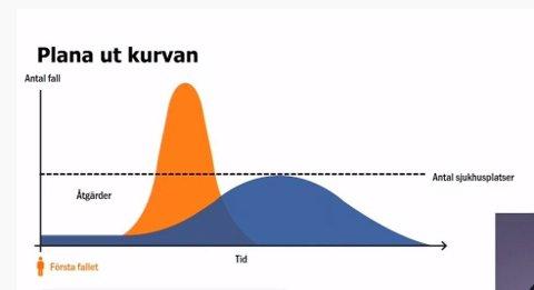 Slik så kurven ut da Norge ennå satset på flokkimmunitet, så forsvant den fra offentligheten.