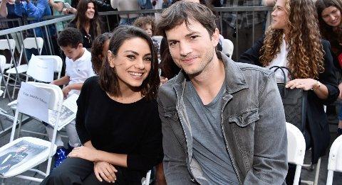 TRENGTE EN PAUSE: Ekteparet Mila Kunis og Ashton Kutcher takket ja til en reklamejobb under koronapandemien.