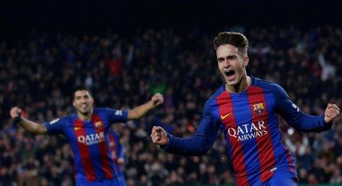 SCORINGSDOBBEL: Denis Suárez (til høyre) ordnet flere mål enn navnebror og målmaskin Luis Suárez da Barcelona lagde målfest hjemme på Camp Nou.