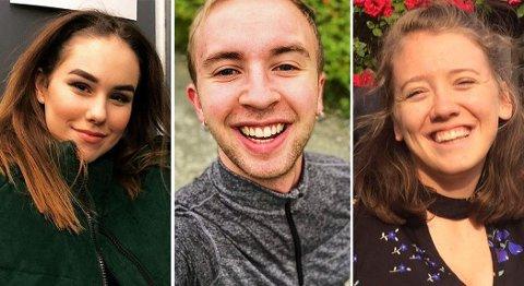 UNGE: Helene, Sigurd og Ida har alle opplevd å få hatytringer slengt etter seg på grunn av at de tilhører en minoritetsgruppe i samfunnet.