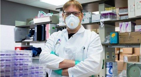 Vaksineprofessor Florian Krammer ved Mount Sinai. Foto: Handout/Mount Sinai