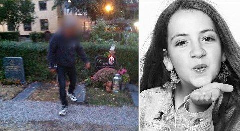 VANDALISERT: Graven til Ebba blir vandalisert opp til tre-fire ganger i uka, men politiet får ikke tak i gjerningsmannen.