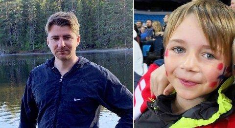 Kim Andre Nielsen og sønnen Benjamin Nielsen omkom i en togulykke i Danmark. Bildet brukes med tillatelse av familien.