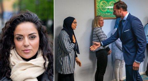 Dana Manouchehri, generalsekretær LIM, reagerer på manglende håndhilsing under kronprins Haakons moské-besøk, og under Irans utenriksministers besøk til Norge.