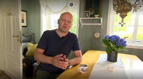 Trygve Slagsvold Vedum innledet Senterpartiets landsmøte med tale via video.