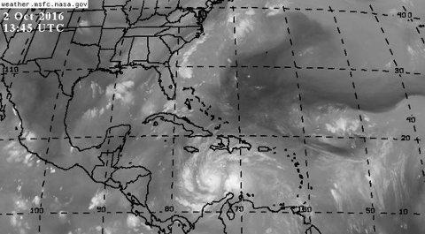"""ORKANEN: """"Matthew"""" like sør for Jamaica og haiti søndag."""