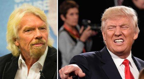 BRANSON KRITISK TIL TRUMP: Richard Branson forteller om sitt personlige møte med Donald Trump, som gjør at han håper Donald Trump ikke blir president.