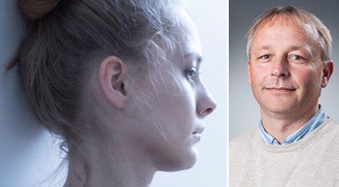 PSYKIAT: - Hvis vi ser på undersøkelsene, er det bare én lidelse som øker, og det er depresjon blant unge jenter. Ellers er det helt stabilt over hele linja. Min oppfatning er at nordmenn får det bedre og bedre, sier Røssberg. sier Jan Ivar Røssberg, professor i psykiatri.