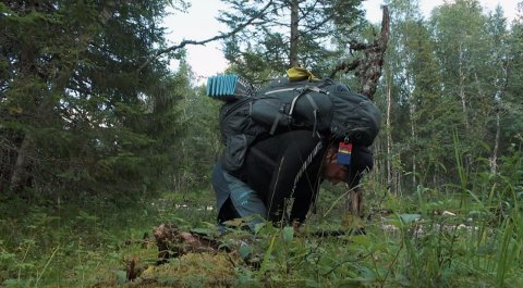 GÅR PÅ VEGGEN: Per Heimly sliter under en tøff etappe i«71 grader nord».