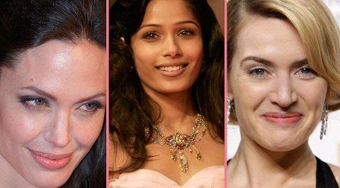 STJERNEFEST: Angelina Jolie, Freida Pinto og Kate Winslet var bare noen stjernene som freste opp den røde løperen under Bafta-utdelingen i London i helgen.