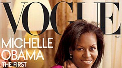 HISTORISK: Michelle Obama er den andre førstedamen som pryder motebiblen Vogues forside.