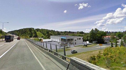 SLIK KAN DET BLI: Oslo Lastebilservice vil søke om å bygge et nytt og moderne verksted på denne nyinnkjøpte tomten i Skulleruddumpa. Illustrasjon: Oslo Lastebilservice