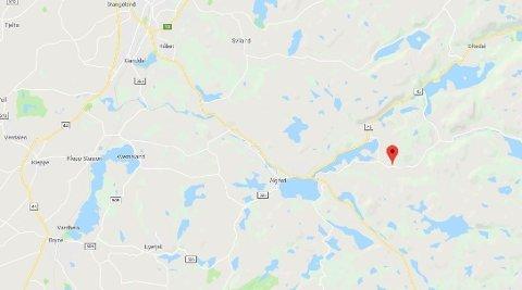 GRESSBRANN: Det oppsto gressbrann i Gjesdal kommune i Rogaland lørdag 13. april.