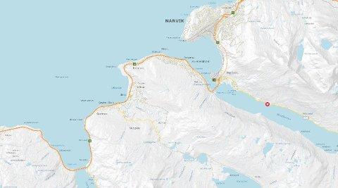 Politiet melder om flere jordras i Nordland, blant annet et ved Beisfjorden.