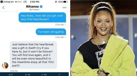 Vi digger svaret Rihanna ga til en fan som slet med hjertesorg og spurte henne om råd.