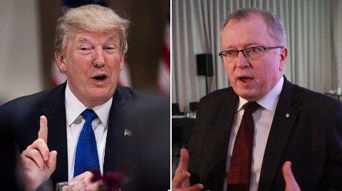 OLJEFEST: Donald Trump gir børsfest for Statoil-sjef Eldar Sætre