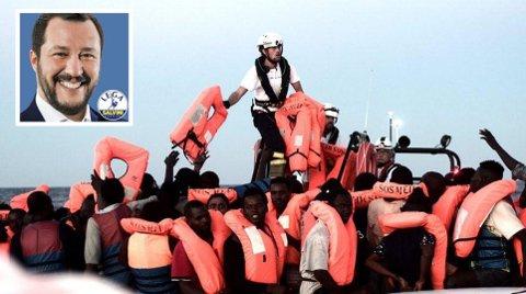 – Det er nok! Det er en plikt å redde liv, men det er ingen plikt å gjøre Italia til en enorm flyktningleir, tvitret Italias innenriksminister Matteo Salvini mandag.