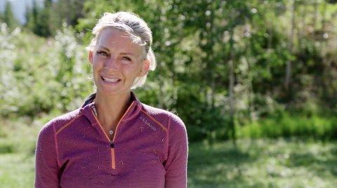 FORNØYD: Katrine Sørland ble så glad at hun begynte å gråte etter konkurransen.