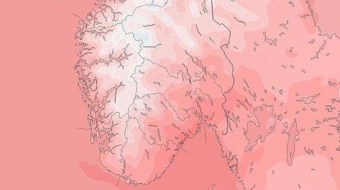 VARMT: Det er lite snø og mye mild luft i sikte for Sør-Norge.
