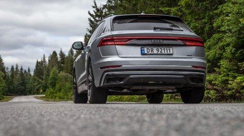 TAPER: Audi Q8 Ladbar hybrid er en av de store taperne i regjerings forslag til nye bilavgifter. Den får en avgiftssmell på over 85.000 kroner.