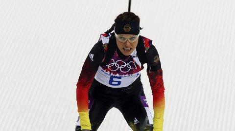 DOPINGTATT: Evi Sachenbacher-Stehle takker fansen for støtten etter at hun ble tatt for doping under Sotsji-OL.