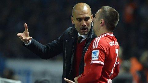 KRITISK: Franck Ribery er kritisk til Pep Guardiolas roteringer på laget denne sesongen.