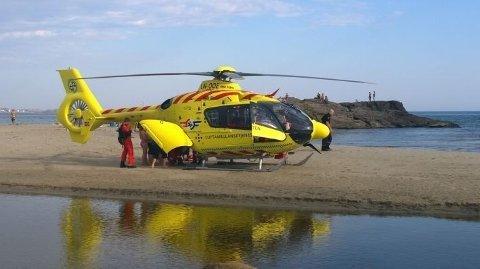 Luftambulansen var og hentet seks-åringen som ble funnet livløs på stranden på Brusand.