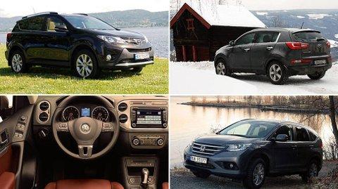 Dette er noen av SUV-ene som selger veldig godt på det norske og internasjonale markedet.