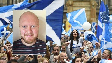 SKOTTE I NORGE: Simon Pauley bor i Mo i Rana og er en av av 1,15 millioner skotter som ikke får delta i folkeavstemningen.