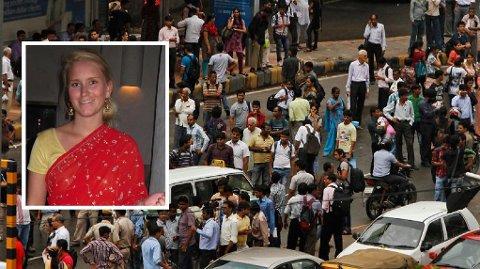 INDIA: Line Steine Oma har studert kvinner i middelklassen i India, og bodd i New Dehli. - Jeg var forsiktig med å bevege meg ute etter mørket, men det skjedde uventede ting midt på lyse dagen, forteller Oma.