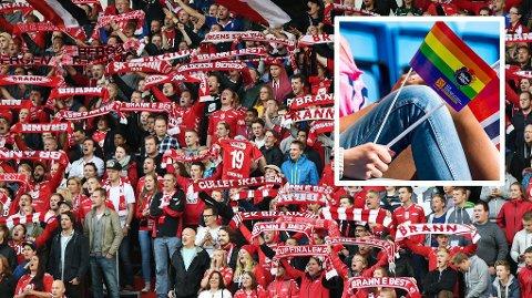 FIKK NEI: Brann-fansen ville ha regnbueflagg som cornerflagg 16. mai.