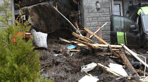 JORDRAS: Jordraset ødela en bolig på Osterøy i Hordaland.