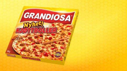 GRANDIOSA: Folkepizzaen Grandiosa med kjøttboller selges til 15 kroner.