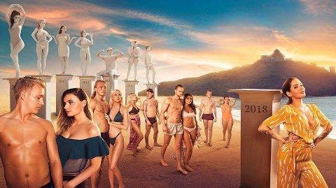 Paradise Hotel 2018 vekker debatt. Her en grafisk framstilling gjort av TV3