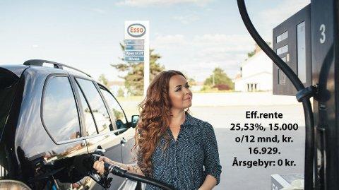 Det er mye penger å spare på drivstoff hvis du betaler med 365Privat MasterCard.