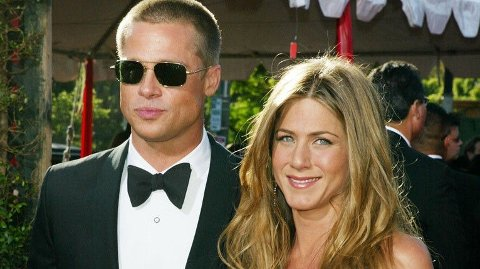 TIDLIGERE SUPERPAR: Brad Pitt og Jennifer Aniston var gift i fem år før de skilte seg.
