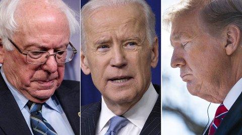 Bernie Sanders, Joe Biden og Donald Trump vil være henholdsvis 79, 78 og 74 år gamle under innsettelsesseremonien for landets neste president i januar 2021.