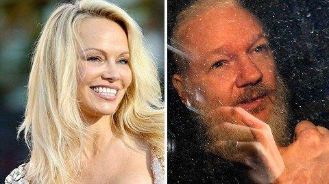Tidligere har Pamela Anderson antydet at hun har hatt et forhold til Julian Assange.