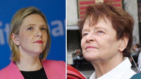 Konstituert 1. nestleder Sylvi Listhaug i Frp får kritikk av tidligere Ap-statsminister Gro Harlem Brundland for forsøkene på å ta eierskap til 1. mai.