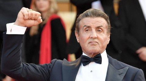 FÅR REFS: Fansen måper over selfie-kostnaden til Sylvester Stallone.