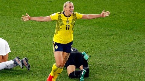 Stina Blackstenius scoret seiersmålet for Sverige både i åttedelsfinalen mot Canada og i kvartfinalen mot Tyskland. Hun blir en meget viktig spiller for Sverige også i kveld.