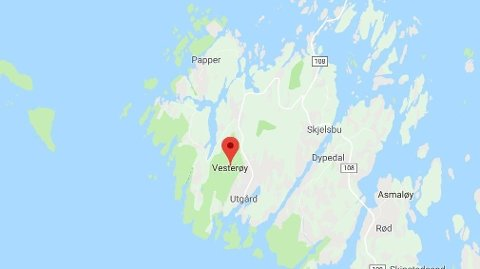 BORTE: En båt har gått på grunn i nærheten av Vesterøy.