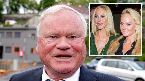 HISTORIENS RIKESTE NORDMANN: John Fredriksen (75) er god 114 milliarder norske kroner. I bakgrunnen står tvillingdøtrene .