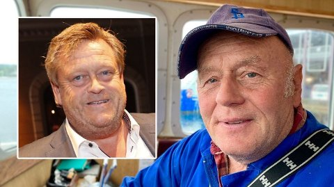 Oddvar Sangedal (til høyre) er et ansikt mange i Stavanger gjenkjenner og hilser på, enten de skal kjøpe reker eller ikke. Fredag snudde fiskeriminister Harald T. Nesvik (Frp), og Sangedal kan søke om dispensasjon til å fiske uten rekerist.