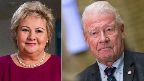 RASER: Tidligere Frp-formann Carl I. Hagen mener statsminister Erna Solberg heller burde fokusert på eldreomsorg enn klimakutt i sin nyttårstale, og karakteriserer innholdet i talen som trist.