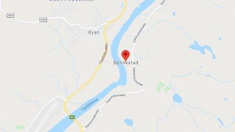 ULYKKE: En mann er alvorlig skadd etter en ulykke i Dønnestad utenfor Kristiansand.